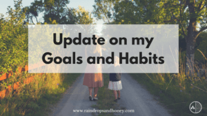 Update on Goals and Habits
